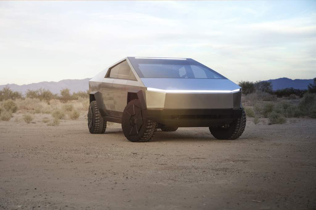 Tesla Cybertruck zepředu